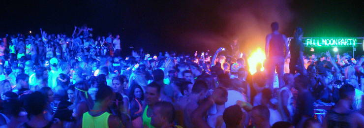 Party at Monthly Full Moon Party in Koh Phangan Thailand