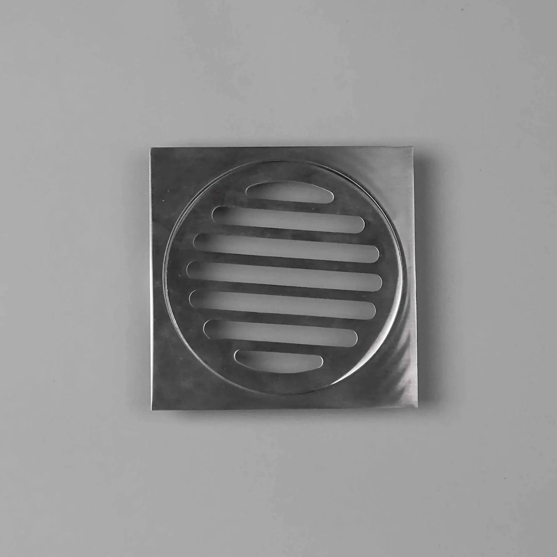 Square chrome wondercap shower drain grates