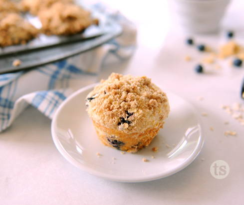 blueberry cinnamon streusel muffins