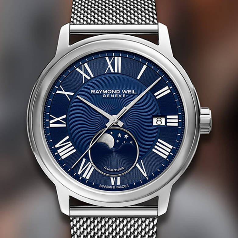 Watch with a Moon Phase Complication