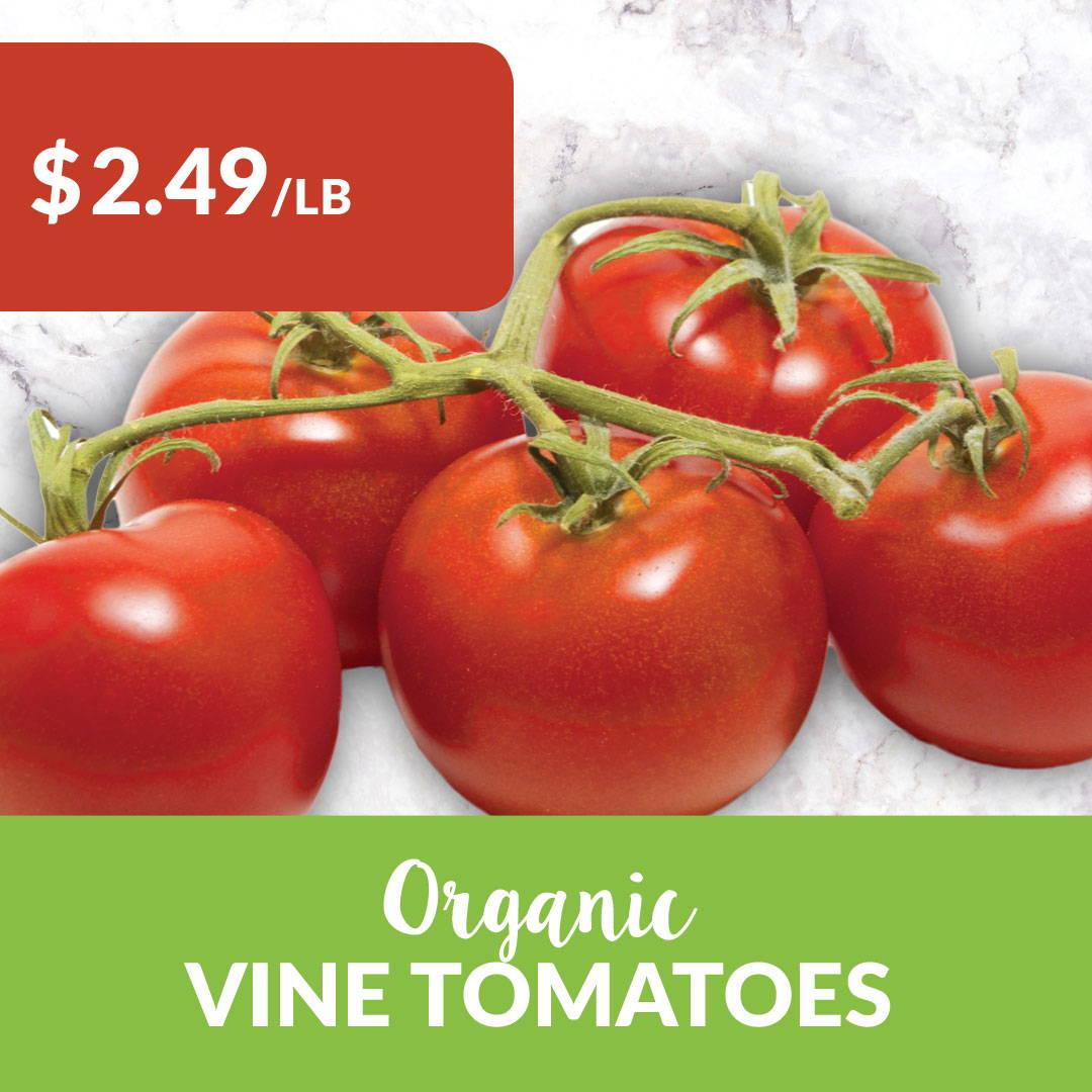 organic local vine tomatoes