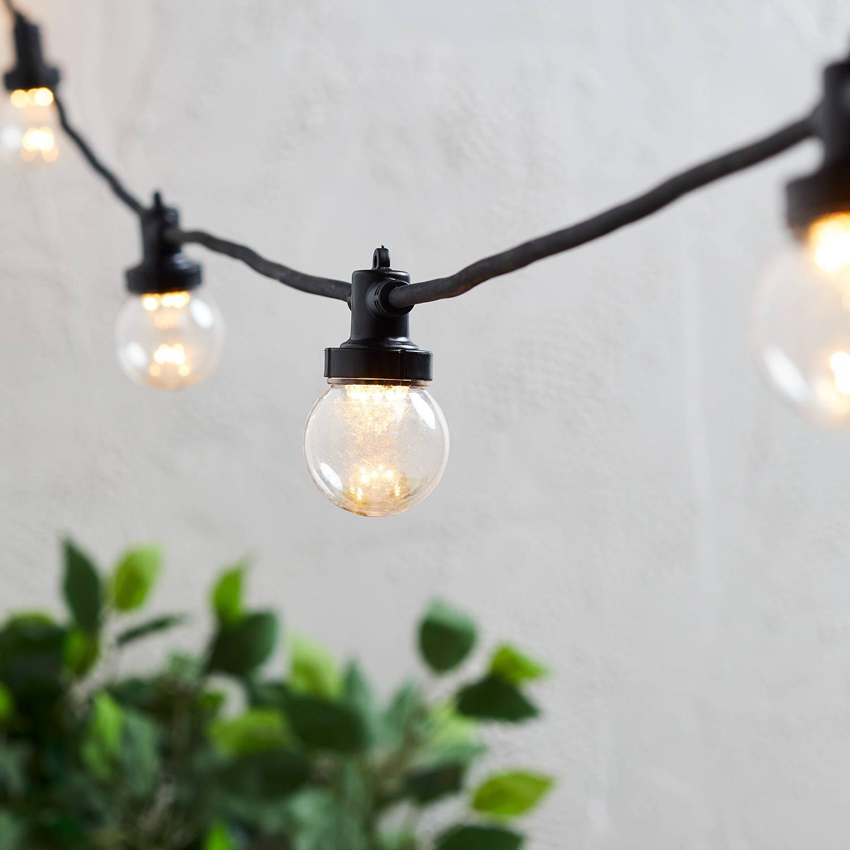 Pro Connect Party Lichterkette warmweiß transparente Birnen