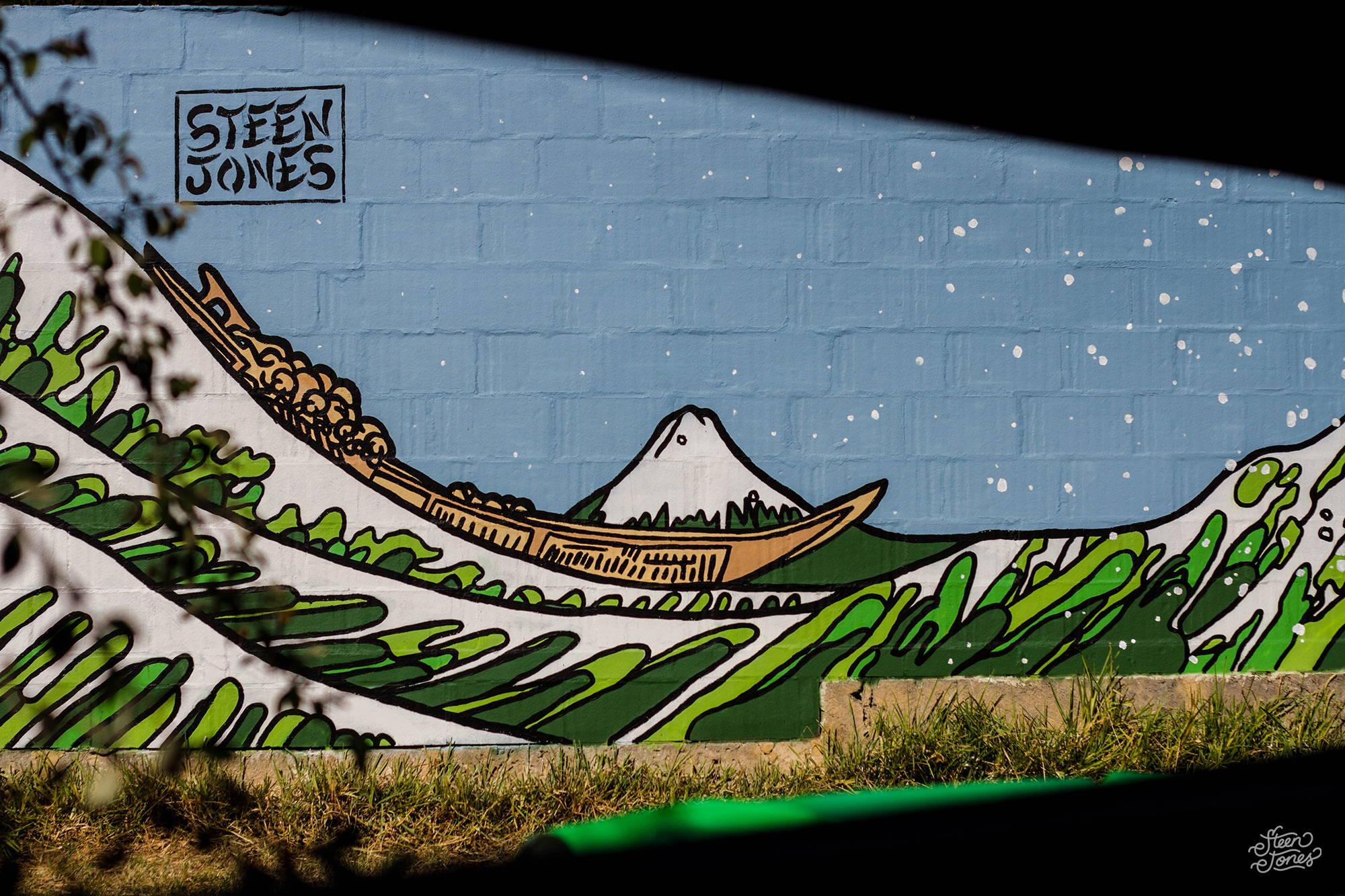 Steen Jones tattoo street artist Australia The Great Wave Perth