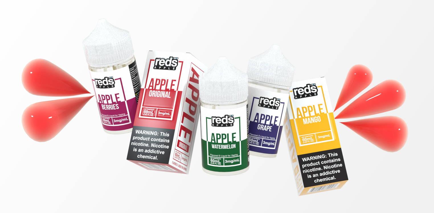 vape juices with liquid splashing