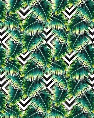 modern green leaf pop art background