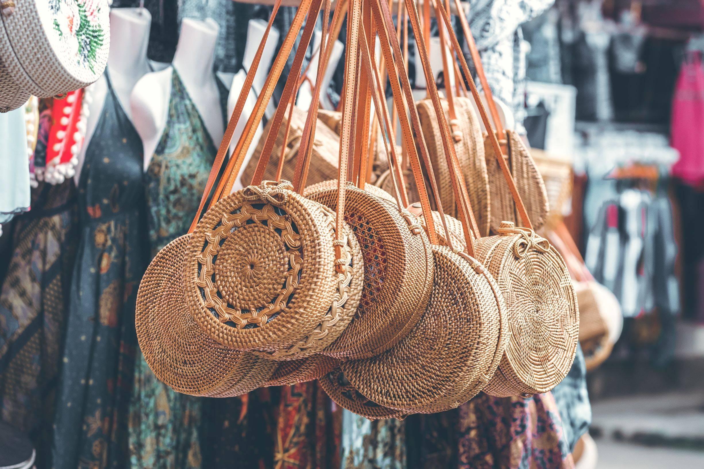 Straw Rattan Bags