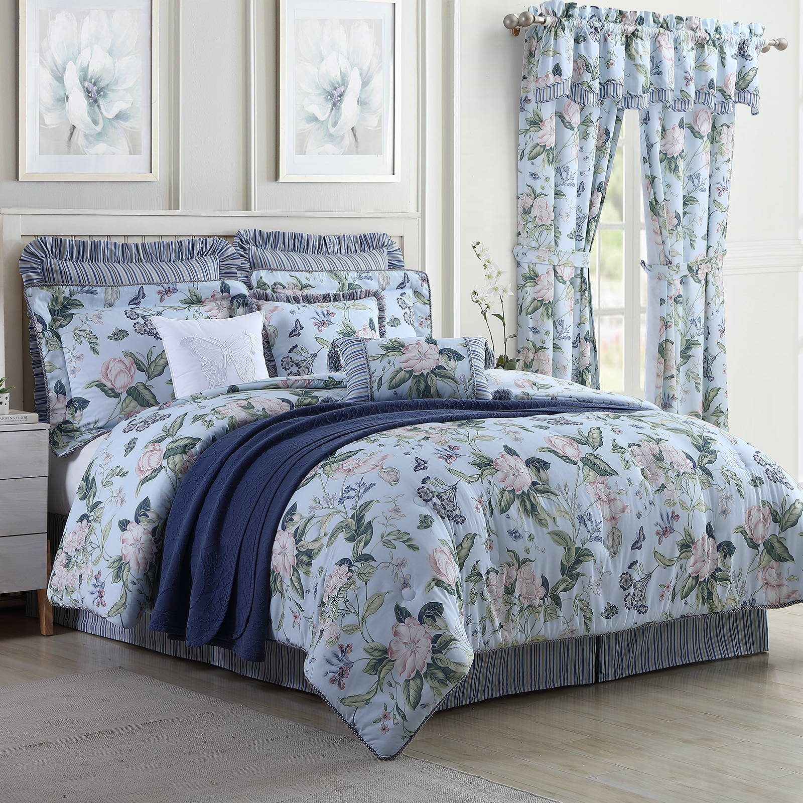 Blue Garden Images Bedding