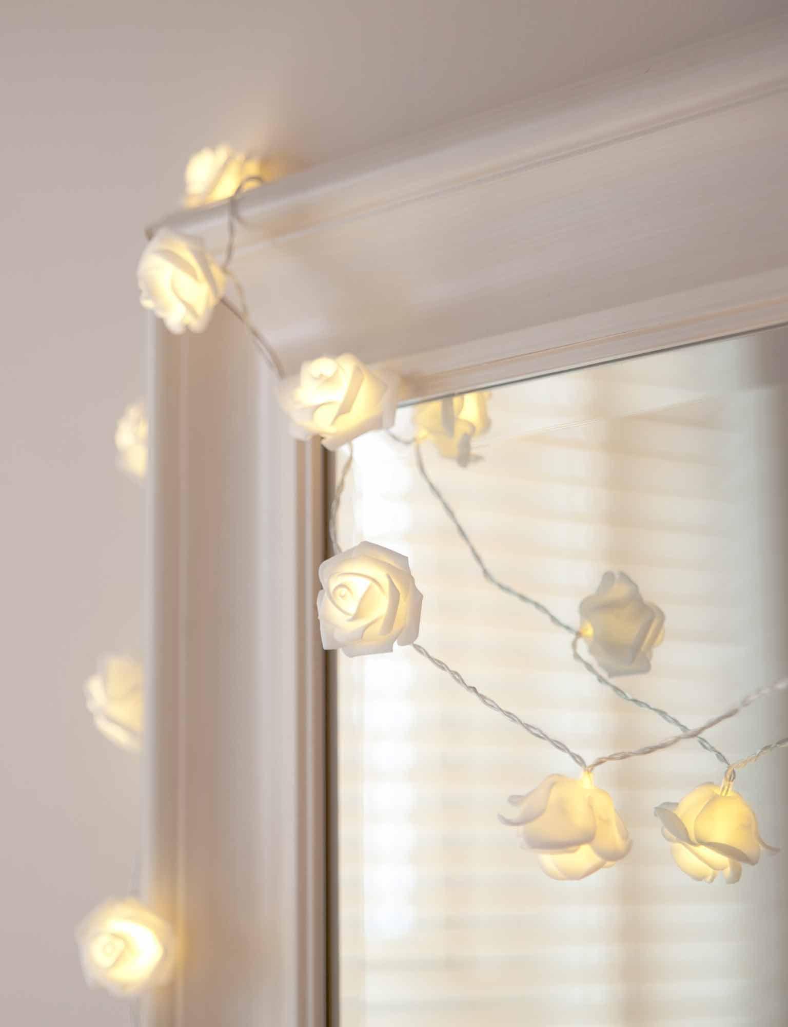 Lichterkette aufhängen wand