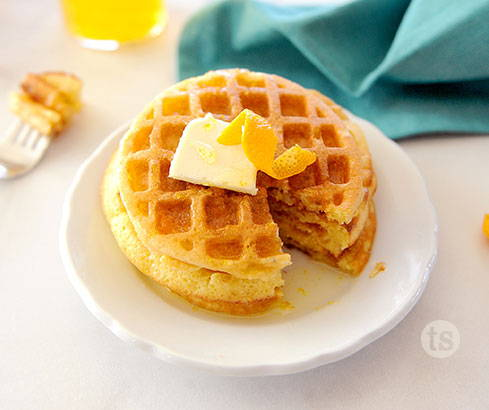 orange dreamsicle mini waffles