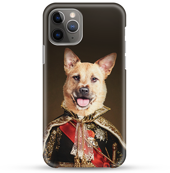 colonial victorian dog art on a phone case