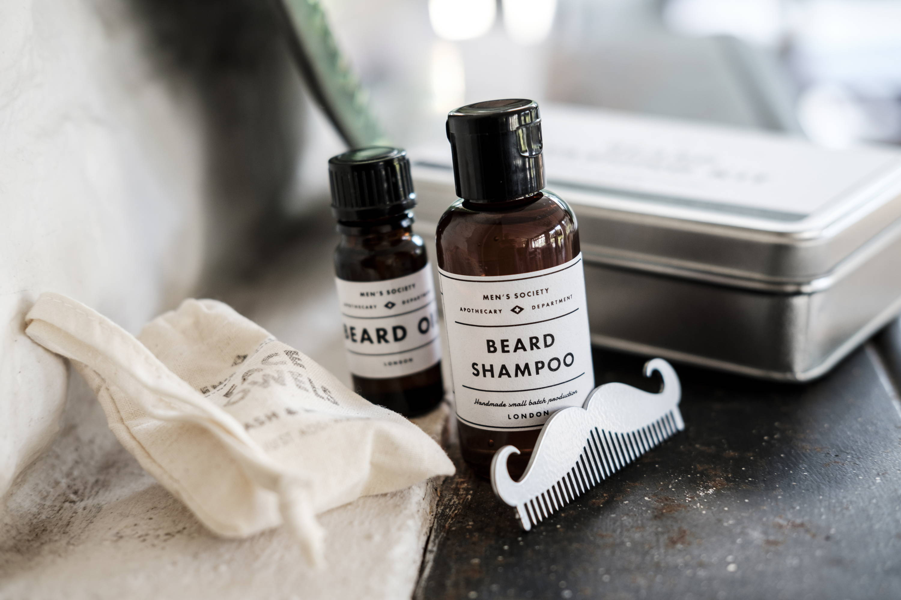 Beard Shampoo in our Beard Washing Kit