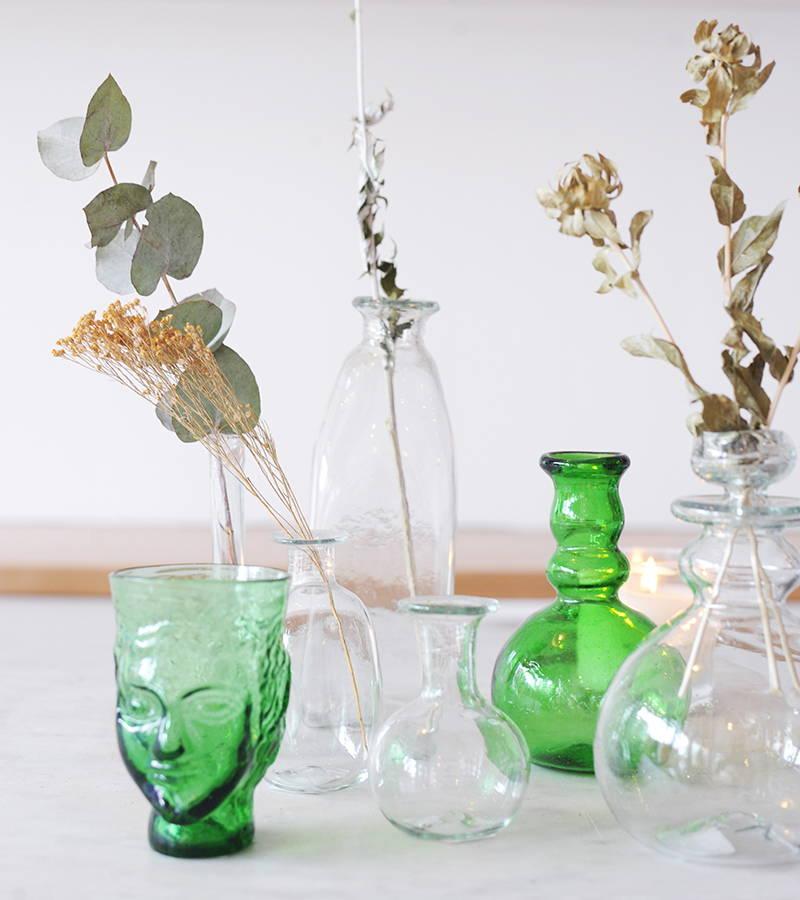 Glass vases by La Soufflerie