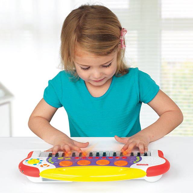 Music and movement toys can be used for learning at home