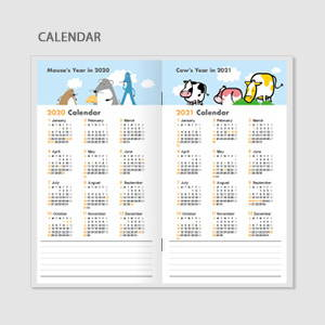 Calendar - Chachap 2020 Hello mouse dated monthly planner scheduler