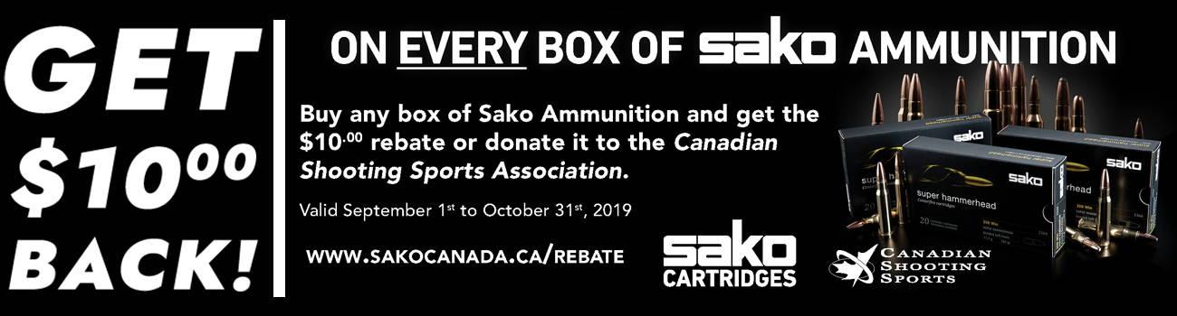 Save $10 on All Sako Ammunition - September 1st to October 31st 2019!