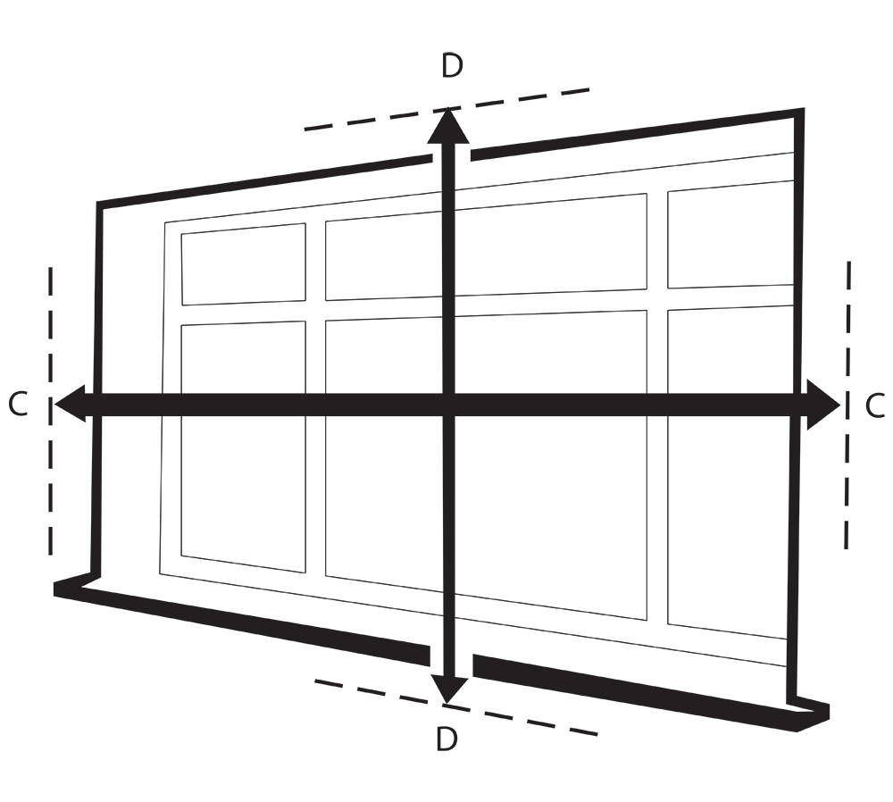 How to measure blinds for fitting outside of the window recess