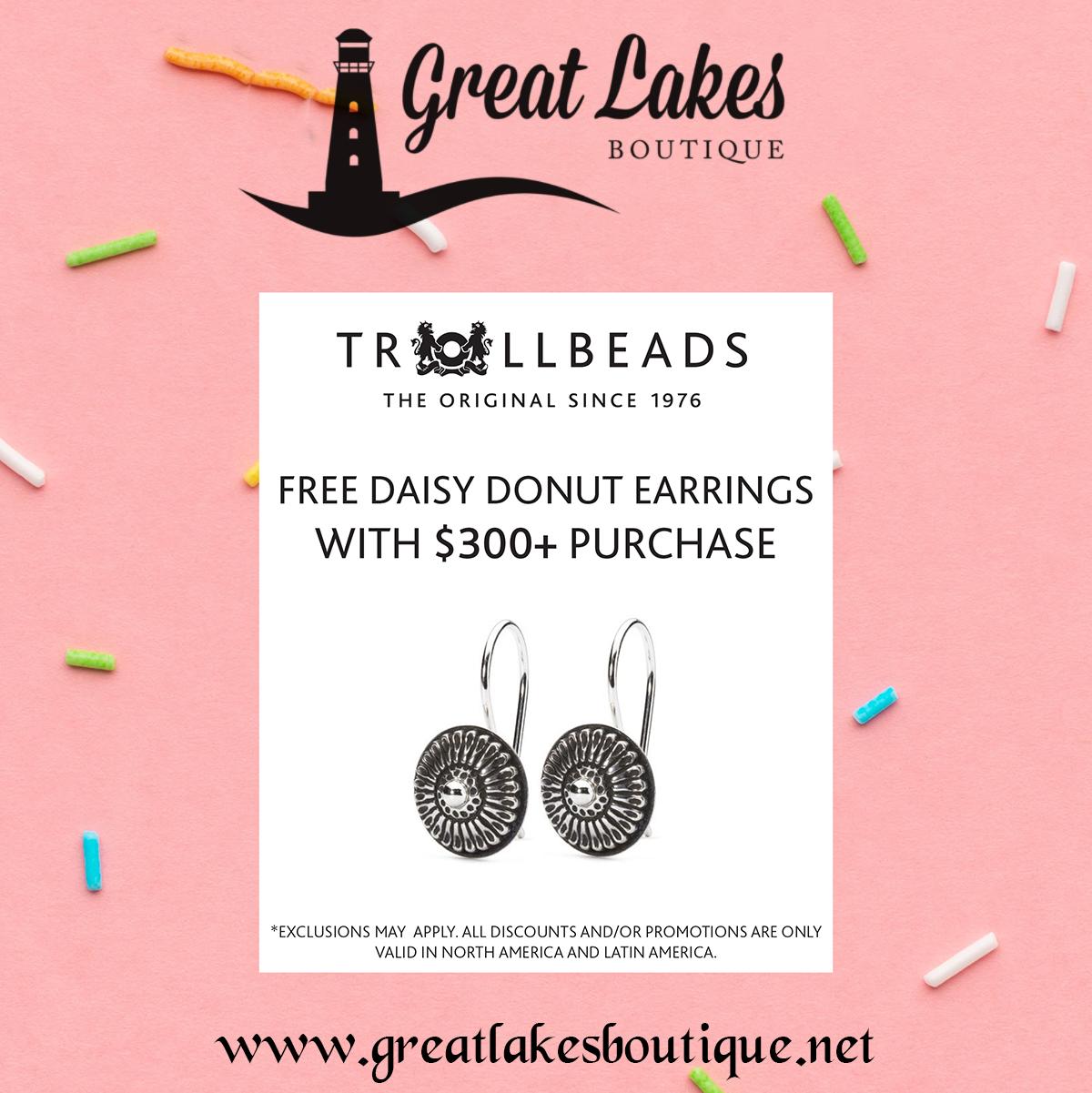 Trollbeads Daisy Donut Earrings