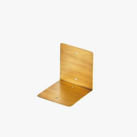 Tiny Bedside Table - Brass Shelf