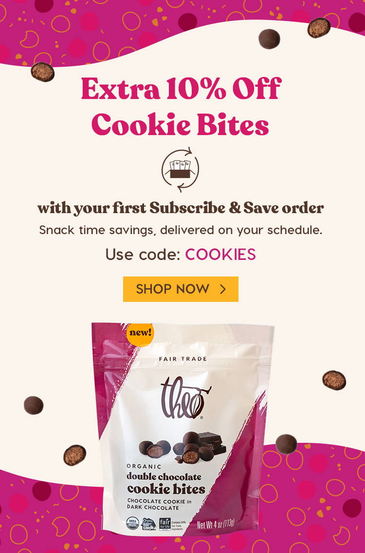 Extra 10% off Cookie Bites with your first Subscribe & Save order using code COOKIES