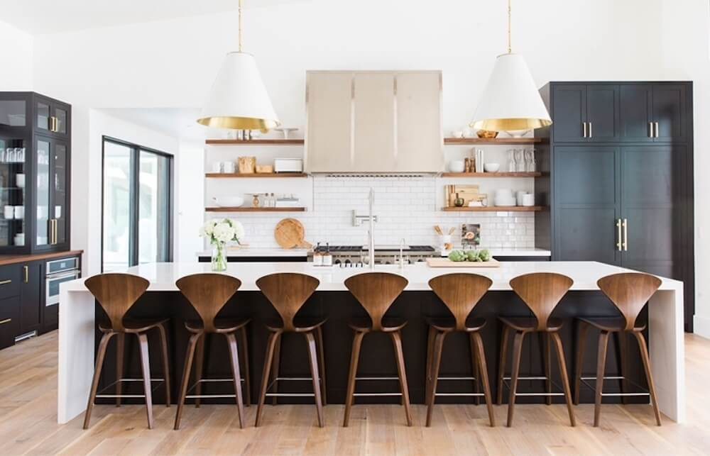 Cherner Counter Stool with Wood Base