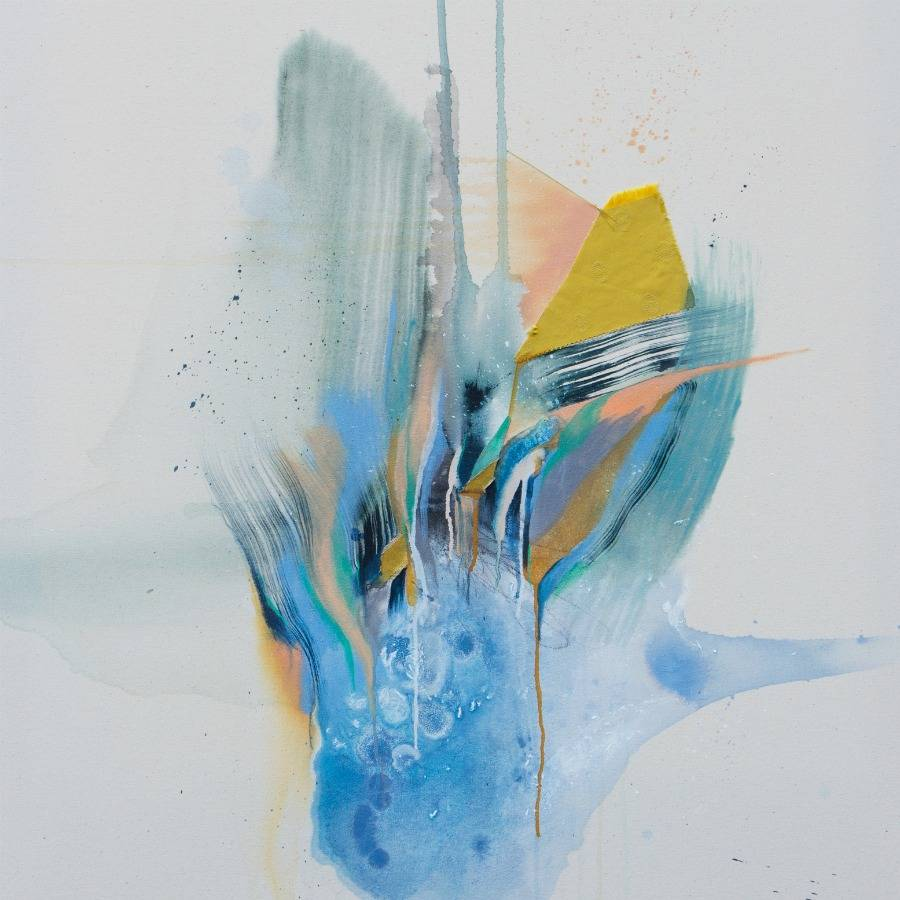 Mixed-media abstract by Rebecca Stern