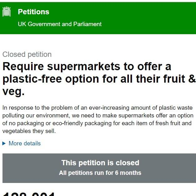 UK government and parliament petition