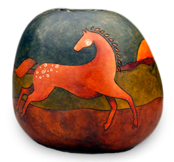 Southwest Gourd Art by Diane Springer