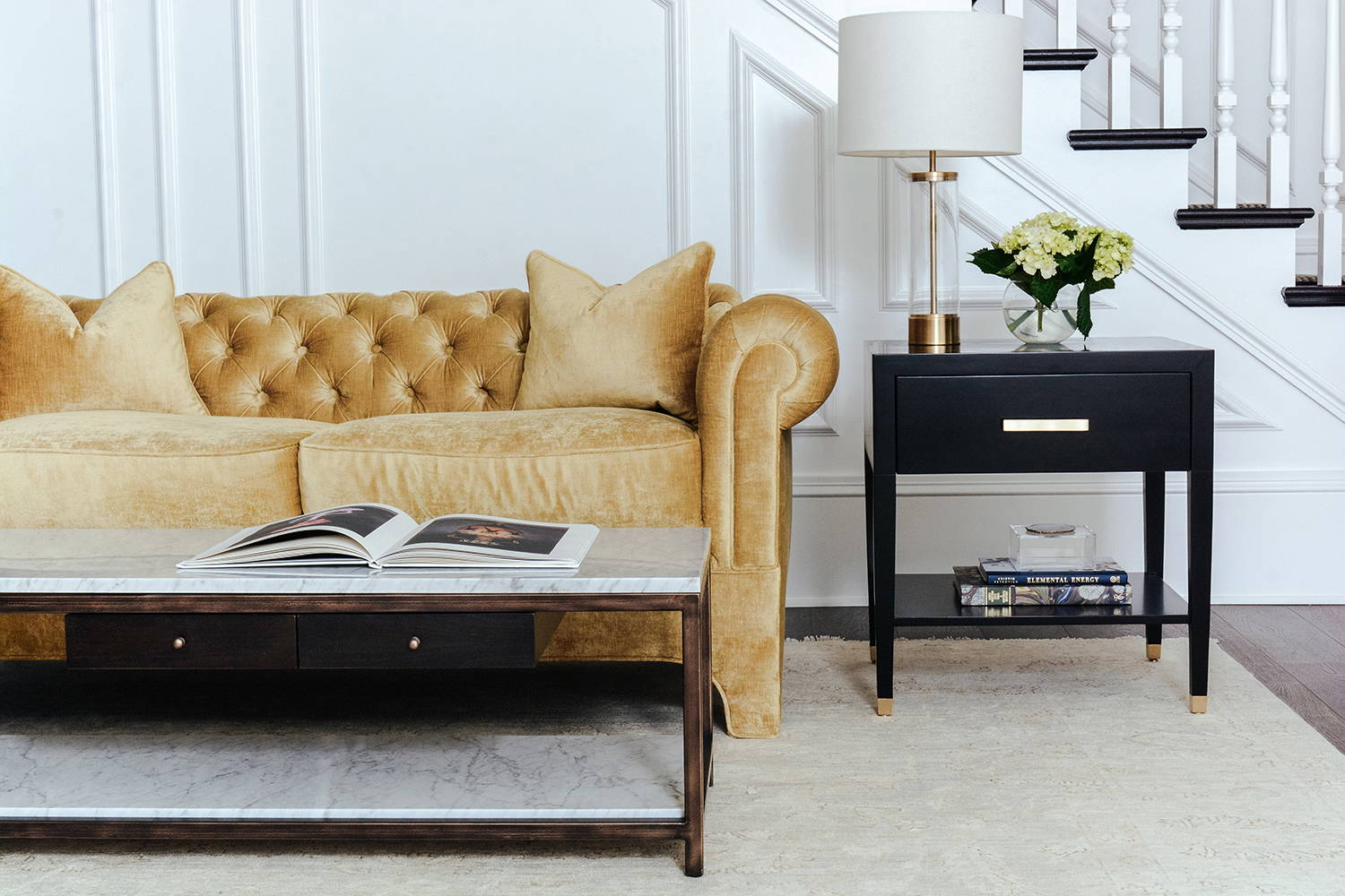 Ave Home | Carlyle End Table and Anders Coffee Table