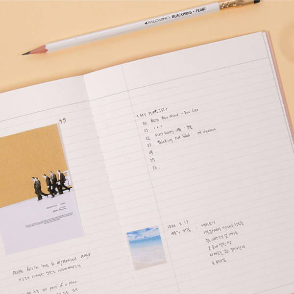 Lined note - Second Mansion The Moments dateless weekly diary planner