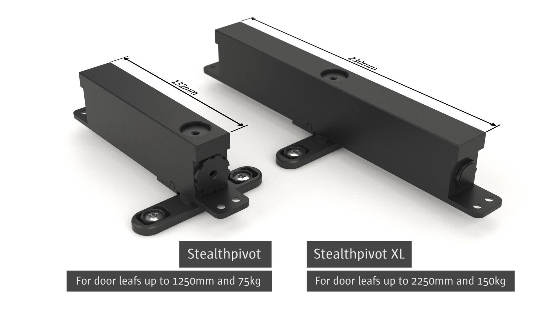 Stealth Pivot pivoting hinge