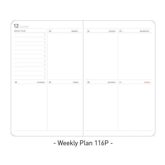 Weekly plan - Ardium 2020 Soft weekly dated diary planner