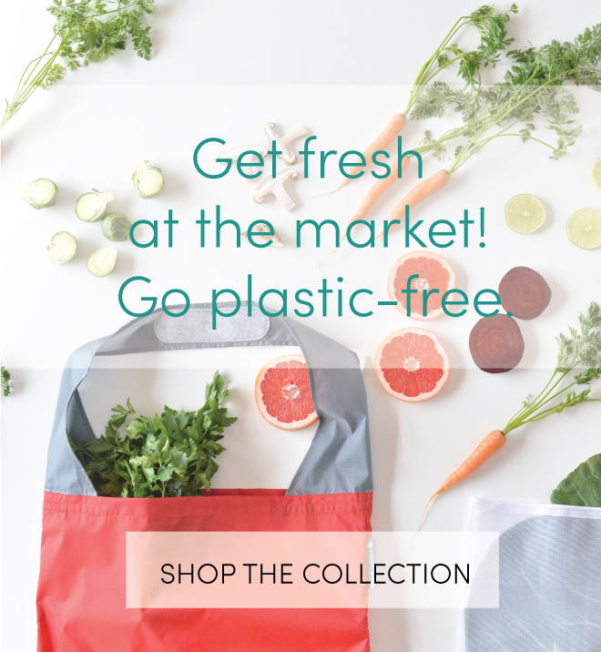 grocery shopping bag and produce bags to go plastic free - eco-friendly bags with produce
