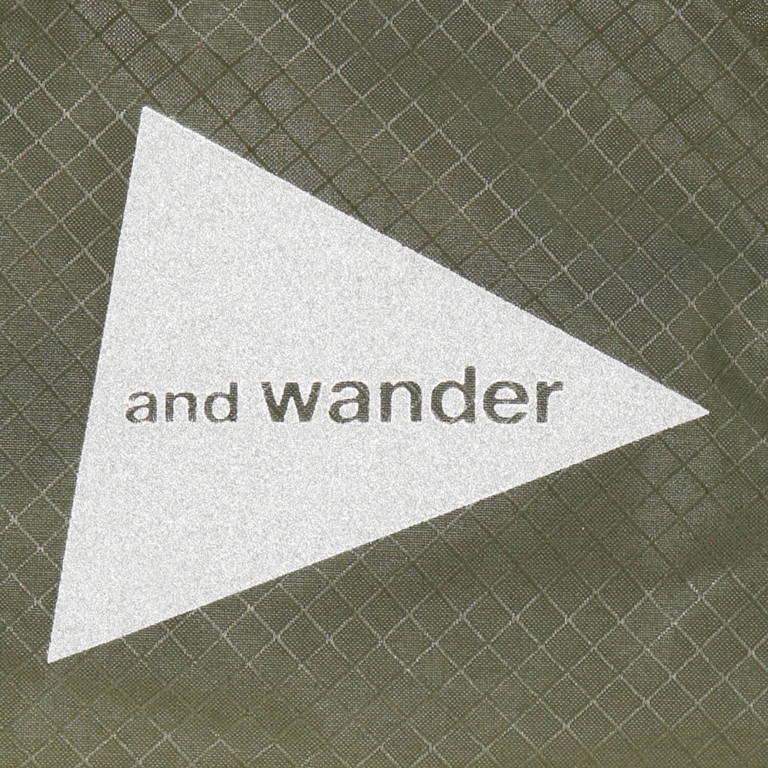 andwander(アンドワンダー)/シル スタッフサック スモール/ホワイト/UNISEX