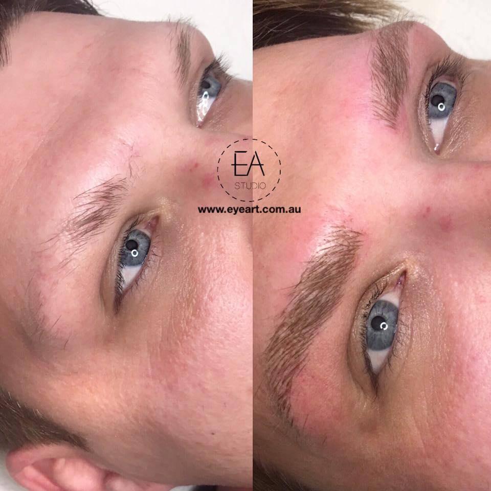 Men's Eyebrow Tattoo