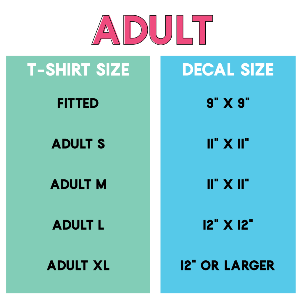 Beginner's Tutorial: Decal Size Tips for T-Shirts, Totes and