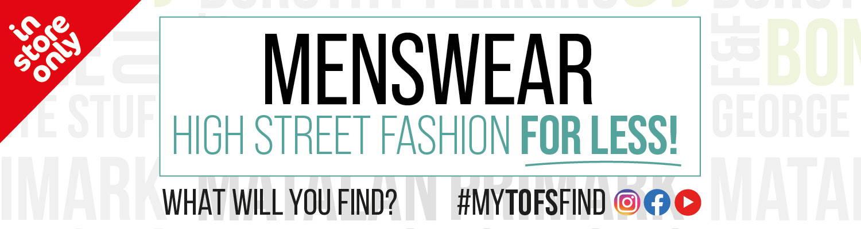 Menswear High Street Fashion For Less