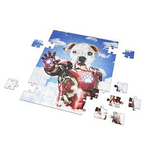 custom dog art printed on a puzzle