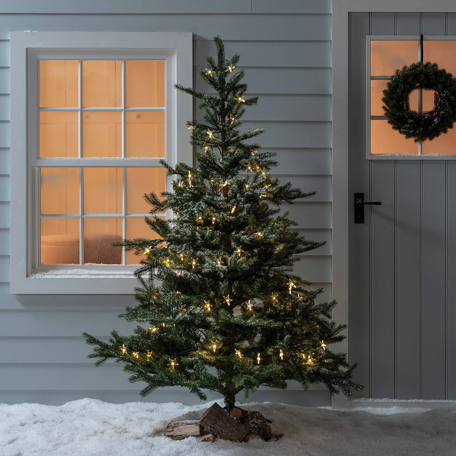 6ft Pre Lit Grandis Fir Artificial Christmas Tree