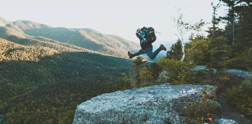 fundamentals of recover rem-fit header image. man hiking