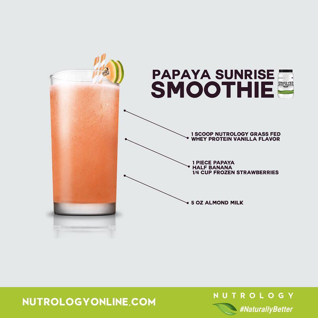 Nutrology Papaya Sunrise Smoothie Recipe