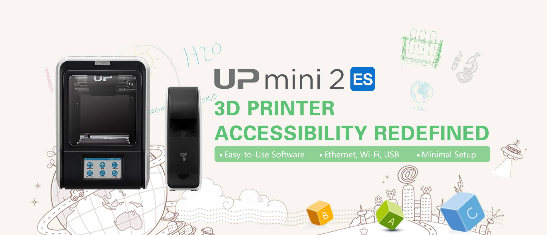 UP mini 2 ES 3D printer