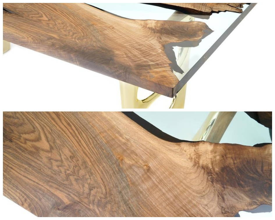 Naturalist Altin 200 Resin River Dining Table Details
