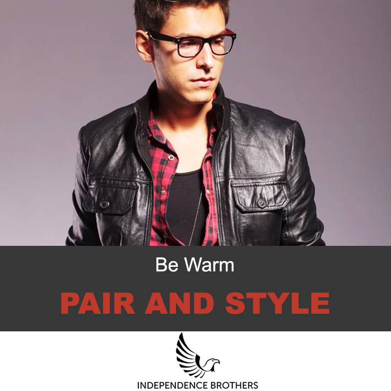 Pair and style your leather jacke