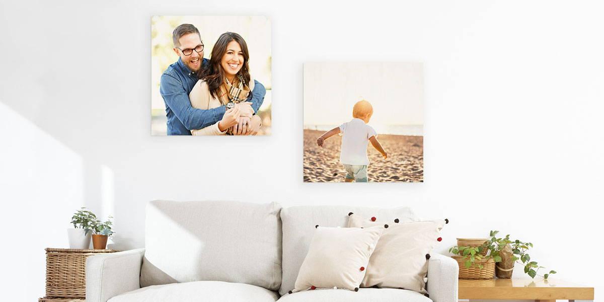 custom wood wall photos