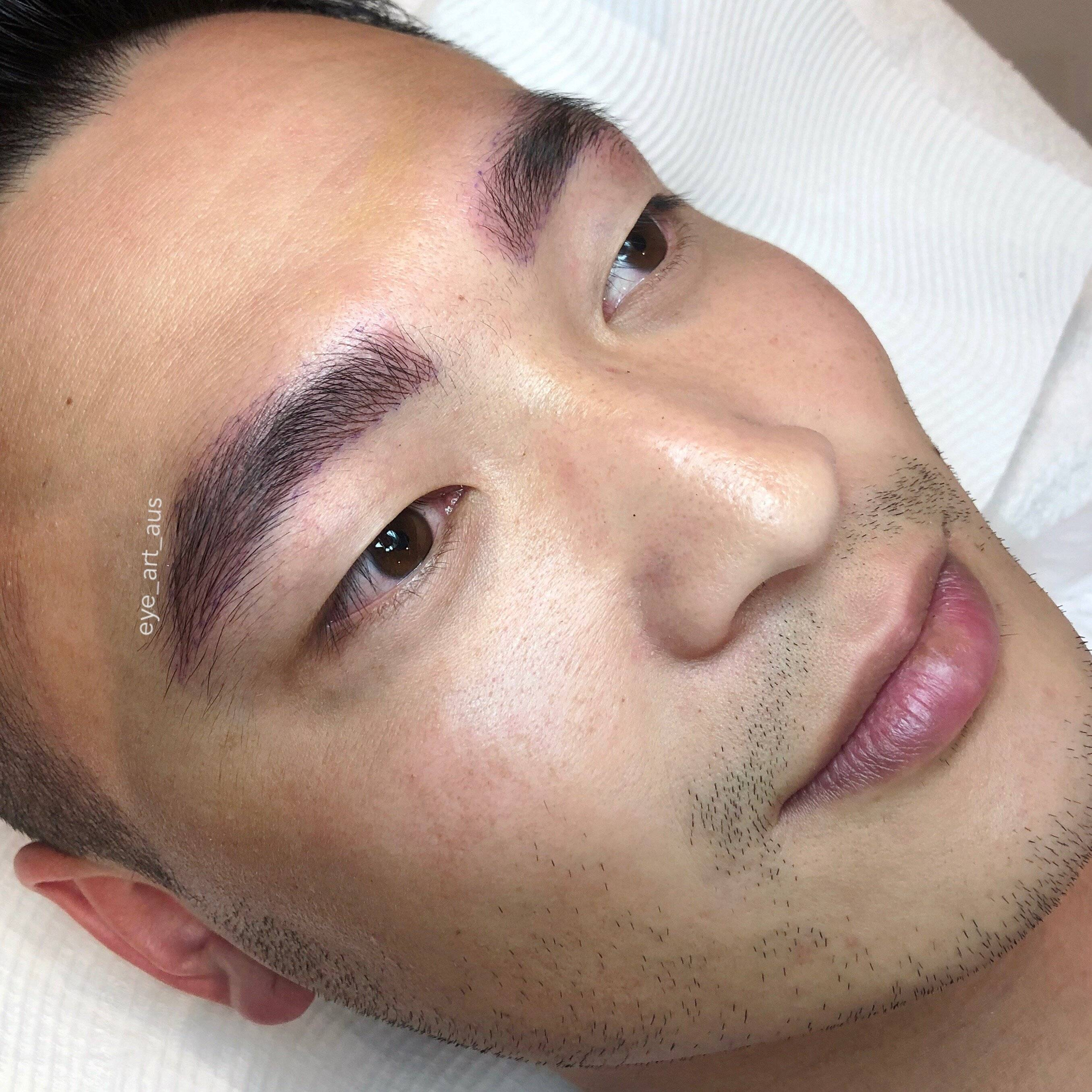 Mens Eyebrow Feathering Tattoo Melbourne