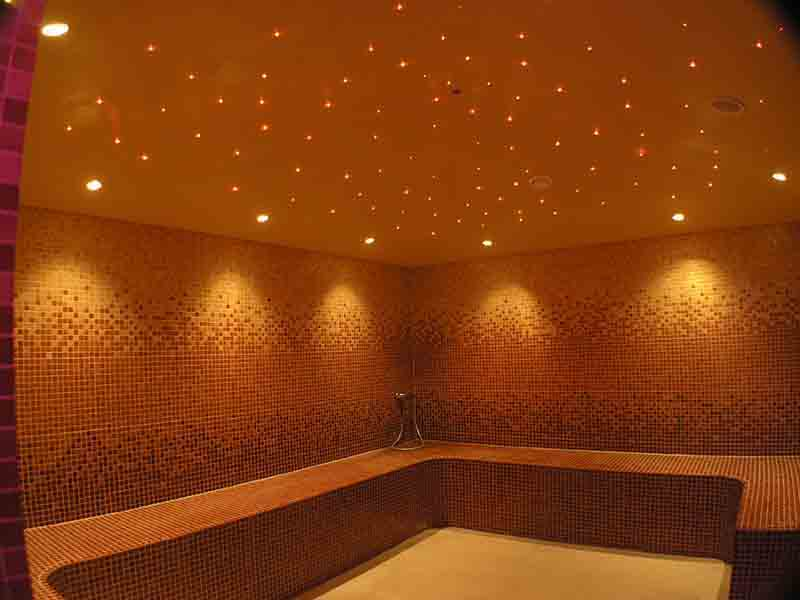Starry ceiling tiles for galaxy ceilings in entertainment rooms