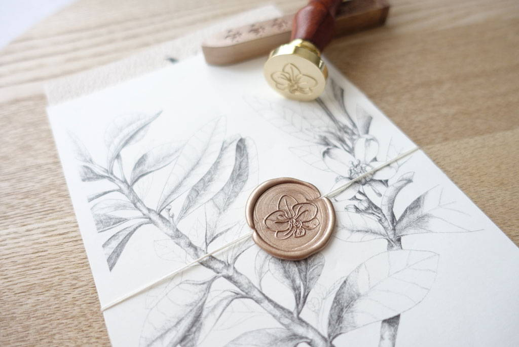 Custom designed wax seal stamp