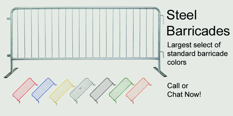 Largest Selection of steel barricade colors