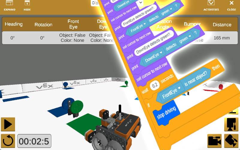 VEX IQ, VEXcode VR, block coding