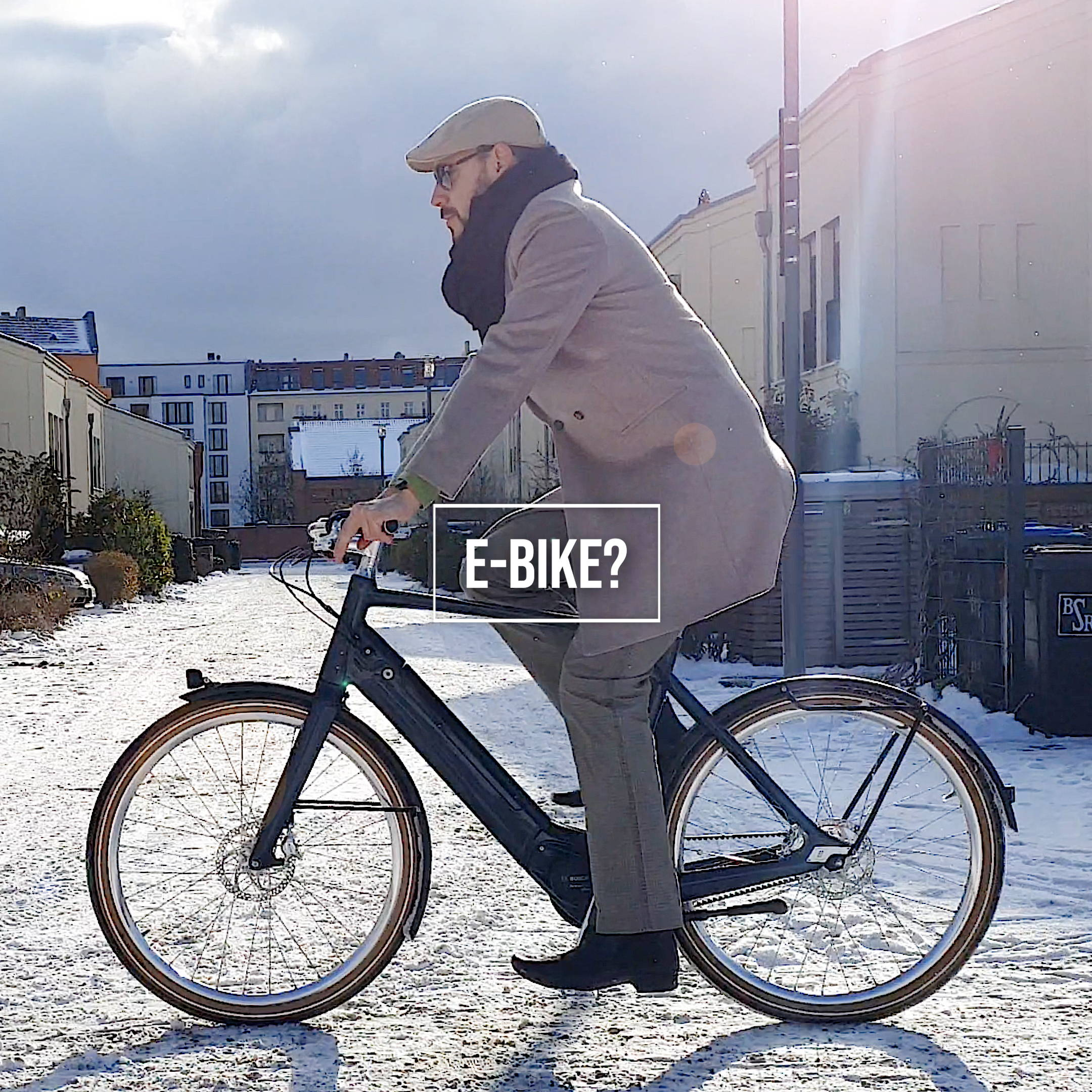 eBike with Saddle and Seat Post lock by Hexlox